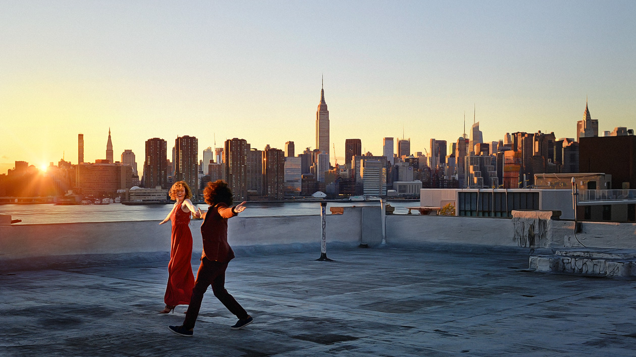 Dancing on the rooftop-